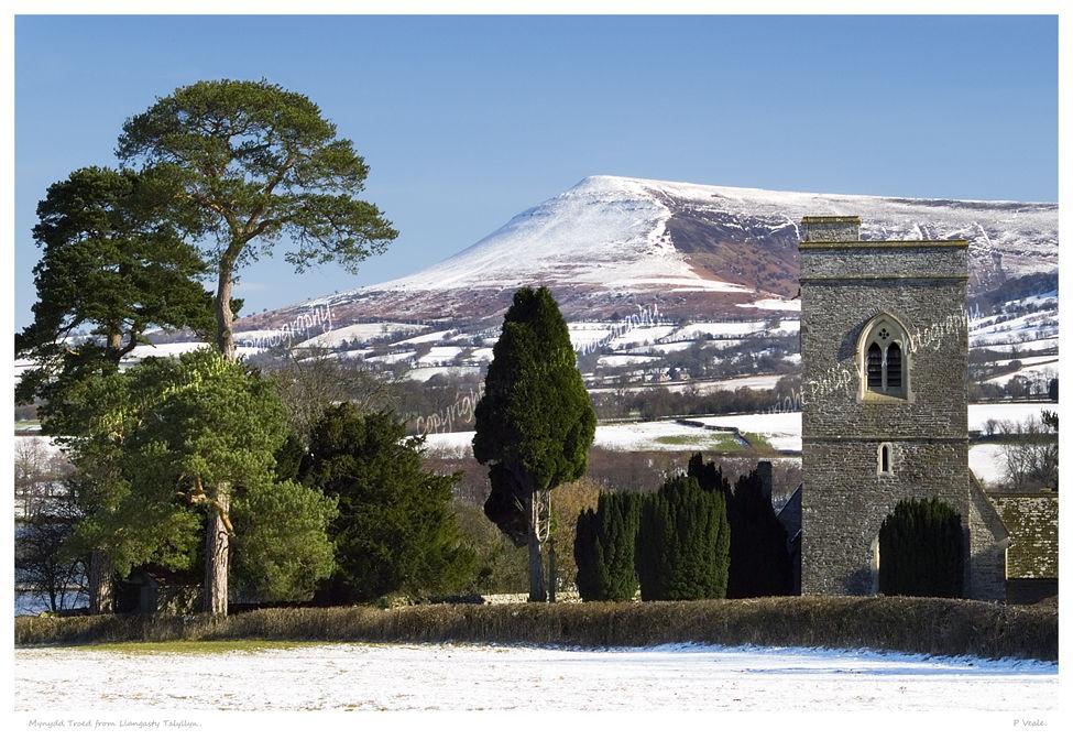 Mynydd Troed from Llangasty Talyllyn.