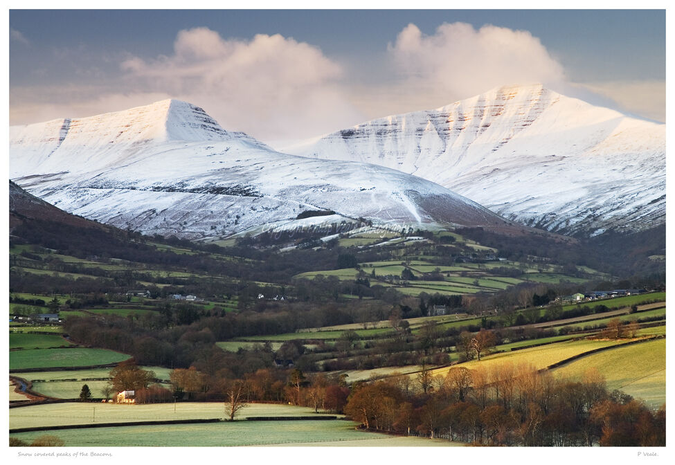 Snow covered peaks of the Beacons.
