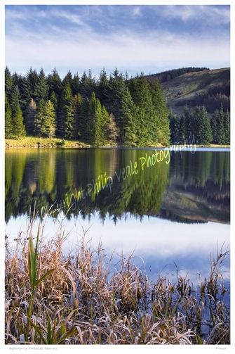 Reflection in Pontsticill Reservoir.