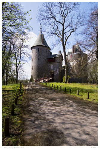 Early spring at Castell Coch.