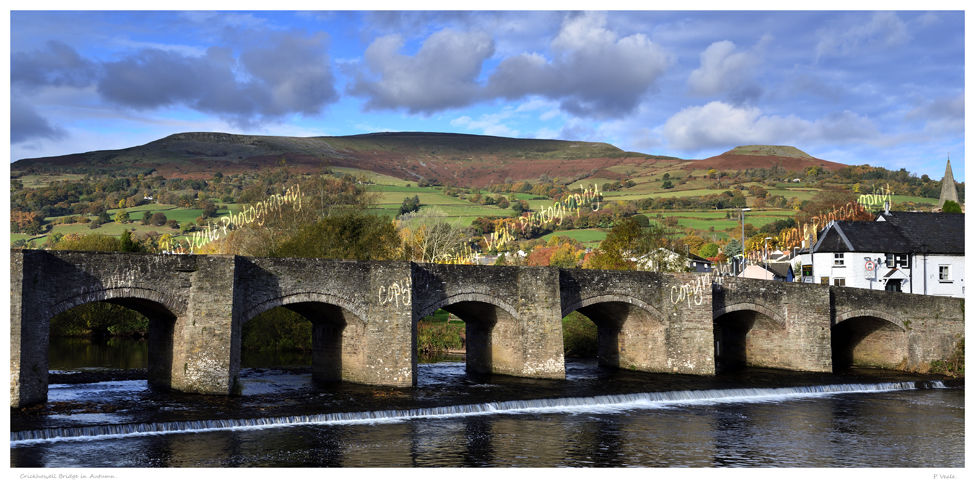 Crickhowell Bridge in autumn.