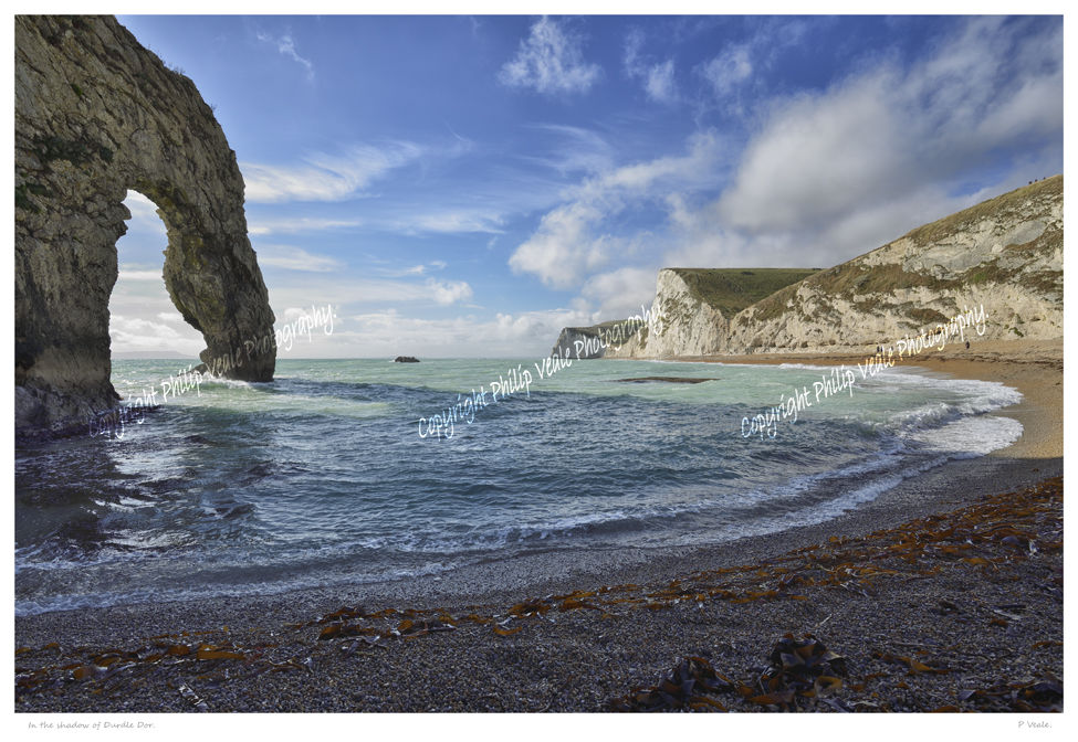 In the shadow of Durdle Door.