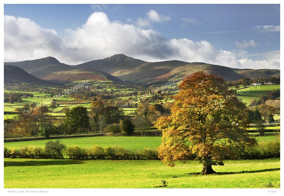 Autumn light, the Brecon Beacons.