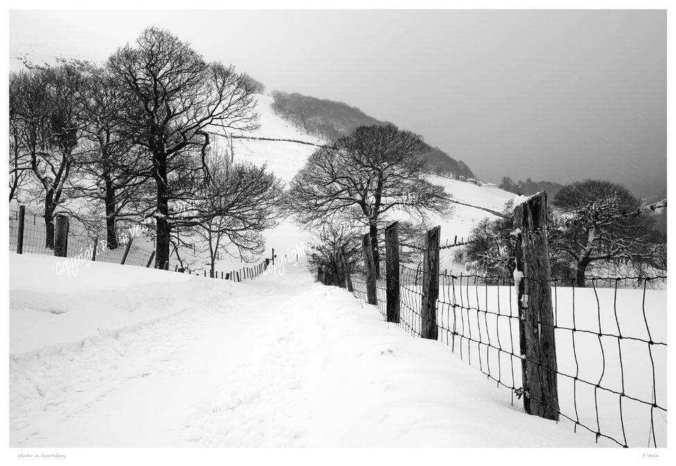 Winter in Cwmtillery.