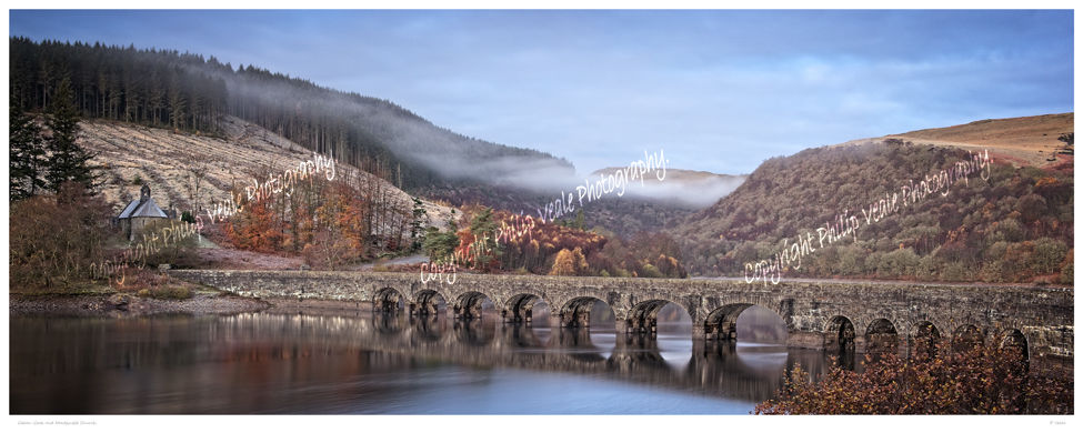 Caban-Coch and Nantgwyllt Church, Elan Valley.