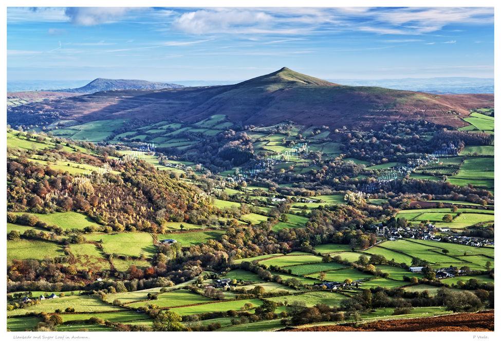 Llanbedr and Sugar Loaf in Autumn.