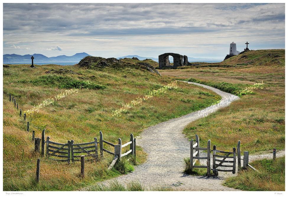 St Dwynwen's Church and Twr Mawr Lighthouse on Ynys Llanddwyn.