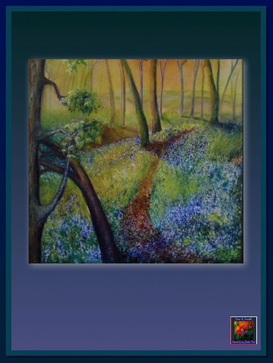 Oil Painting of Bluebell Woods. Lincolnshire Landscapes in Oil Paint. Oil Paintings of Lincolnshire Landscapes.
