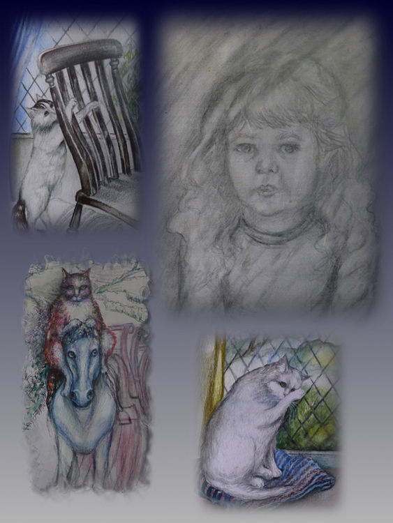Drawings of Children and Pets