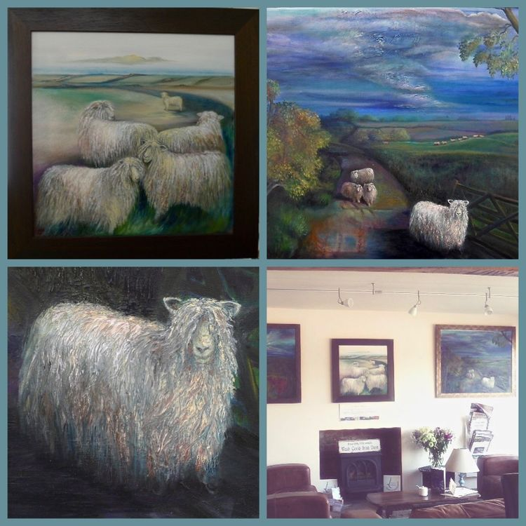 Longwool Paintings in Lincolnshire Landscape