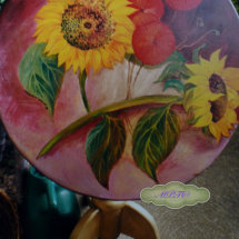 Past Commission of Hand Painted Table Top