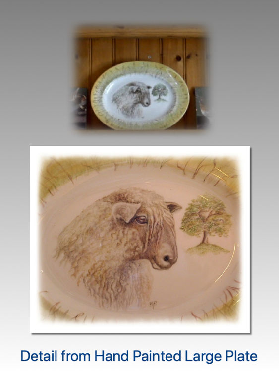 Close Detail of Longwool Sheep £90 Large Serving Plate