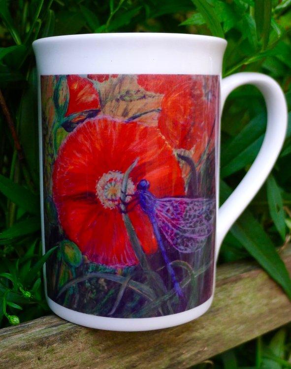 Margaret's Hand Painted Tile Logo Printed onto a Mug