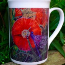 Margaret's Hand Painted Tile Logo Printed onto a Mug