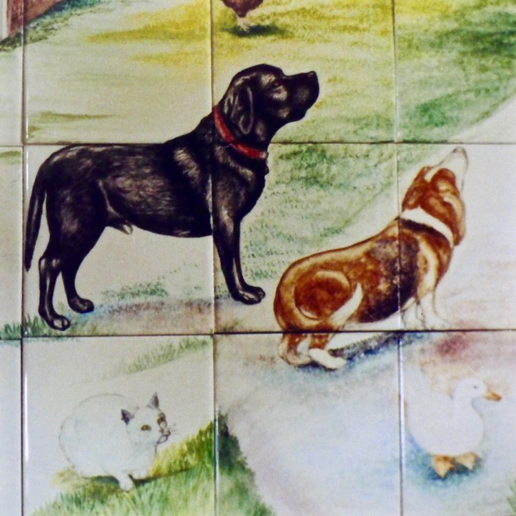 Detail of Dogs from Former Commission