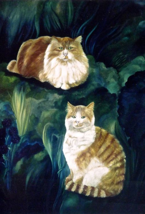 "Portraits of Cats ""How to Commission Artwork"" Click on MENU"