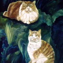 """Portraits of Cats """"How to Commission Artwork"""" Click on MENU"""