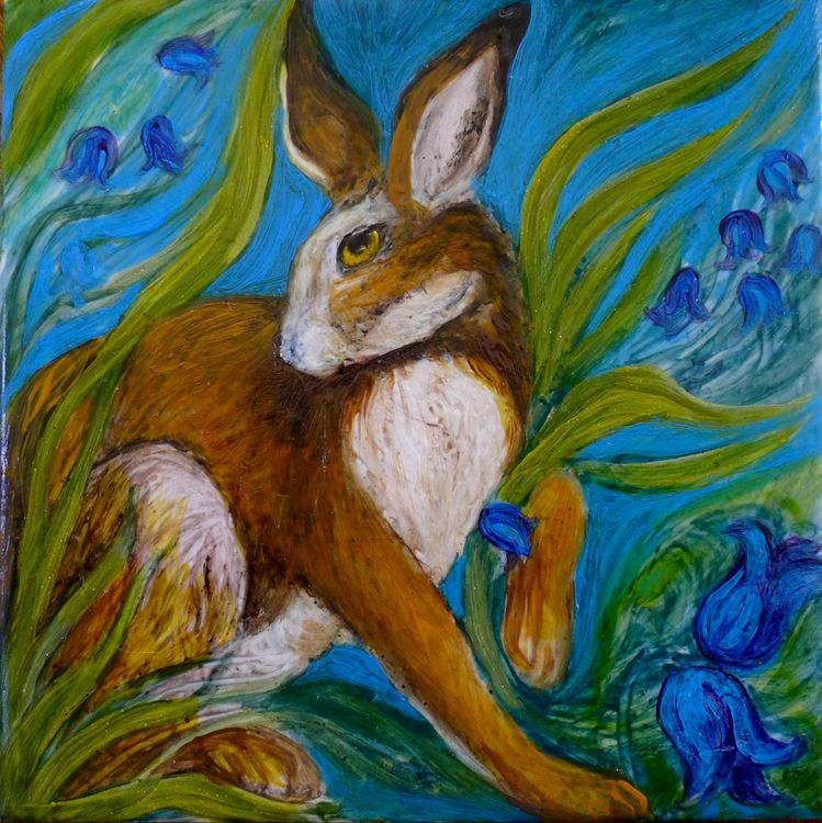 Printed Limited Edition Tiles £14.99 Hare Belles 2.