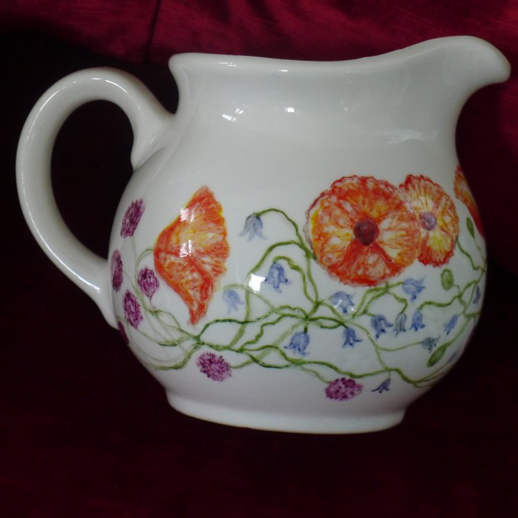 Unique Hand Painted Large Milk Jug £35.00