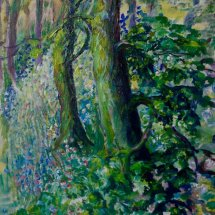 Blue Bell Woods Oil Sketch N.F.S, Prints Available.