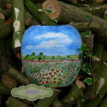 Hand Painted Cushion Vase £39.99