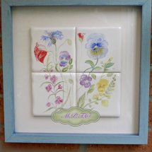 English Garden Tiles Hand Painted Tile Picture. £90