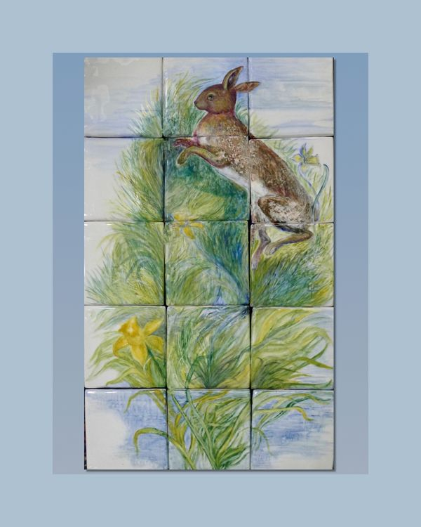 Panel 'Leaping Hare'Gallery 2A Art 'Sold'