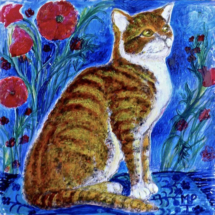 Tile 3. Portrait of Marmalade