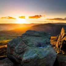 Golden Sunset Bamford Edge