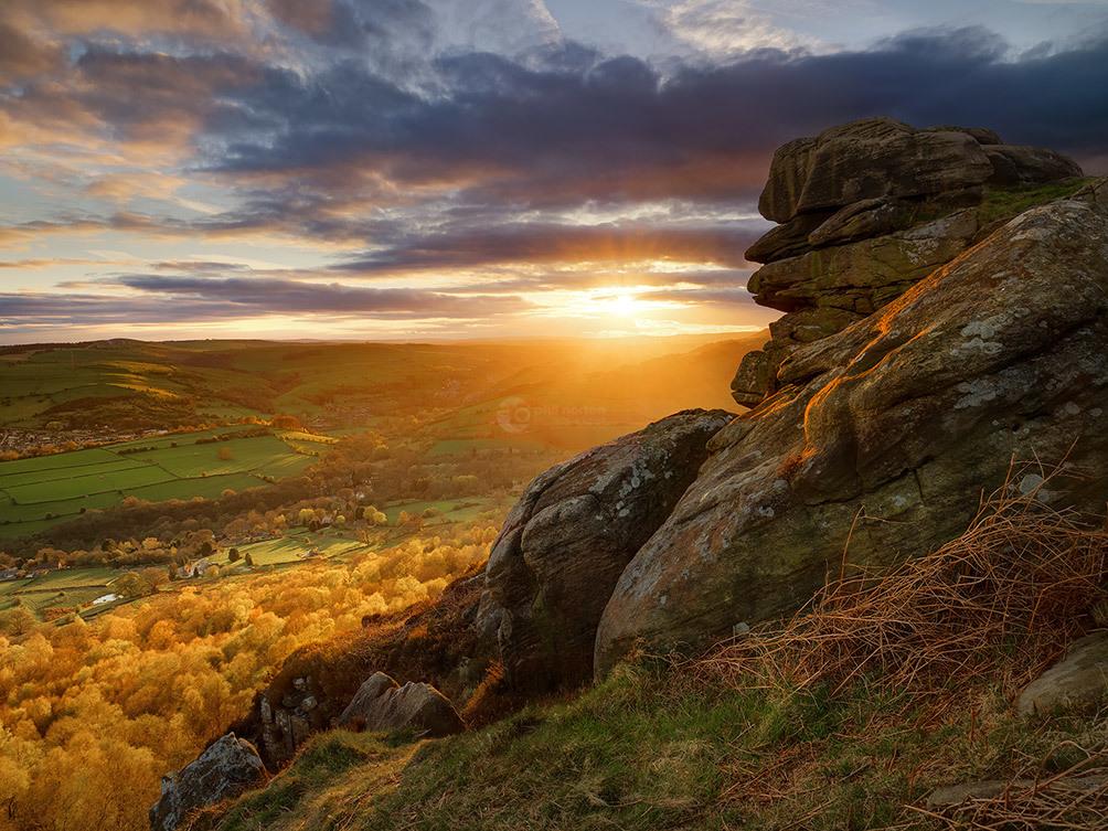 Curbar Edge Sunset II