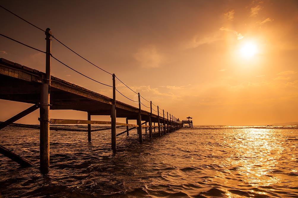Egyptian Pier At Sunset II