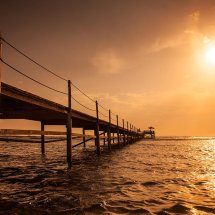 Egyptian Pier At Sunset II