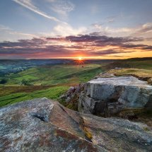 Sunset Over Higger Tor