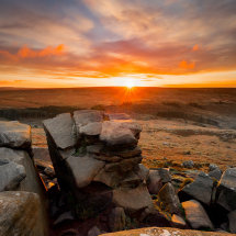 Higger Tor Rock Stack Sunrise