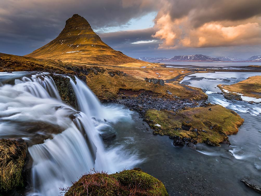 Cascading Water, Kirkjufoss-Iceland