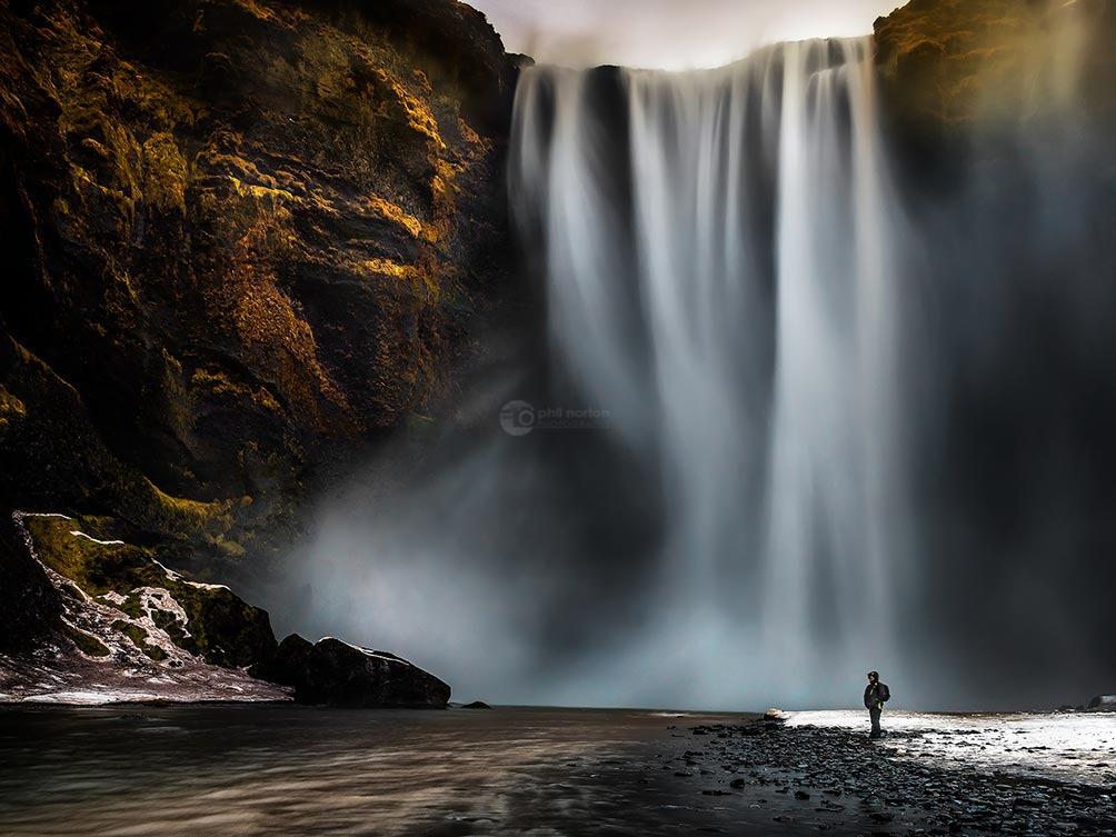 Misty Falls-Iceland