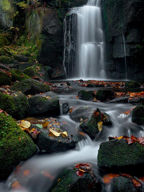 Lumsdale Autumn Falls