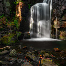 Light On Lumsdale Falls