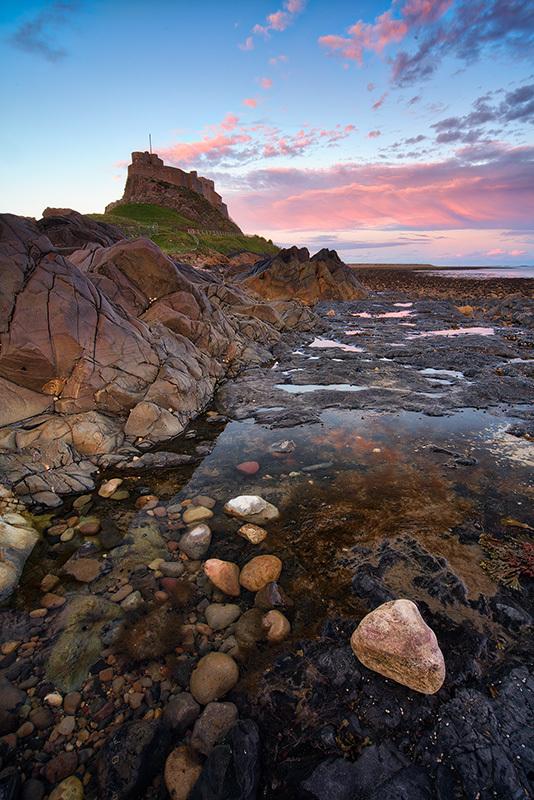 Lindisfarne Low Tide Sunset