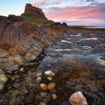 Lindisfarne Low Tide Sunset
