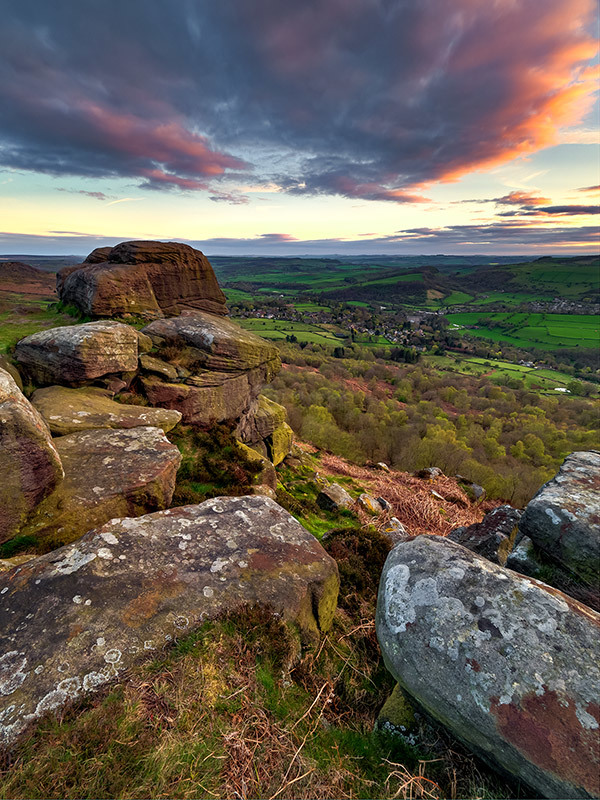 Curbar Edge Sunset