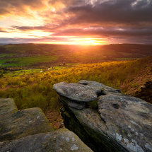 Curbar Edge Sunset II