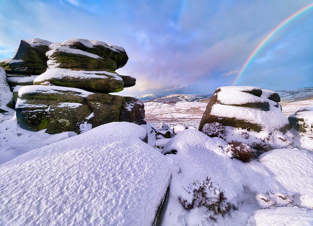 Owler Tor Winter Rainbow