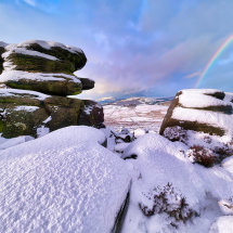 Owler Tor Winter Rainbow