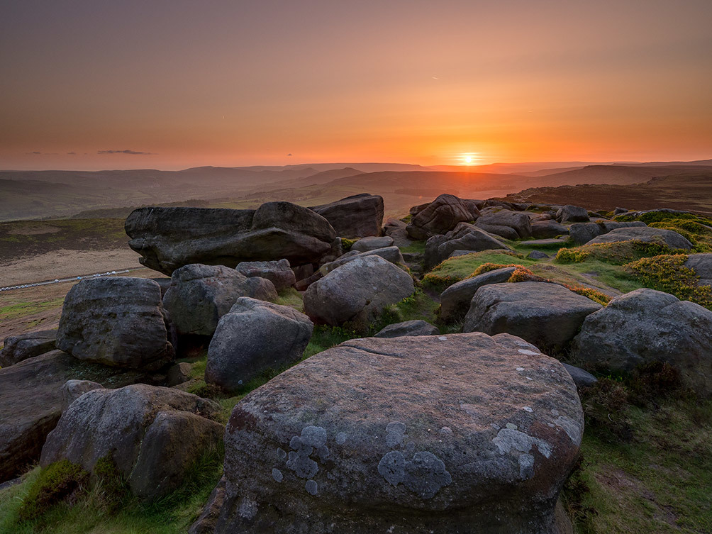 Sunset over Stanage II