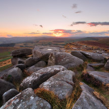 Peak District Sunset Stanage Edge I