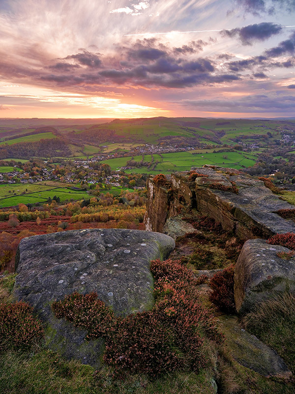 Twilight on Curbar Edge