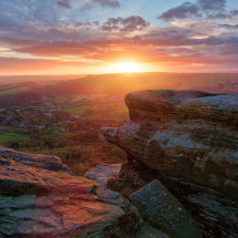 Sunset on Curbar Edge III