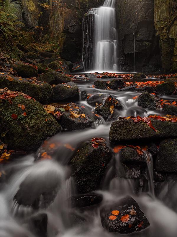 Lumsdale Falls Autumn