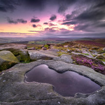 Peaks Stanage Arrow Puddle